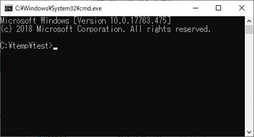 Windows(コマンドプロンプト)