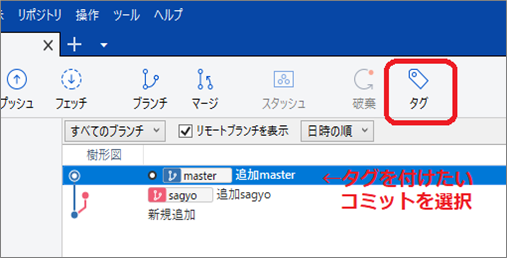 SourceTree(タグアイコン)