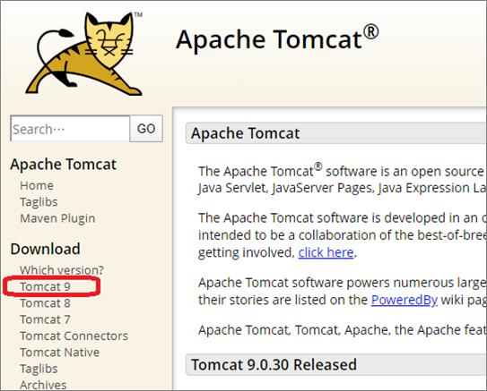 Tomcat(公式ページ)