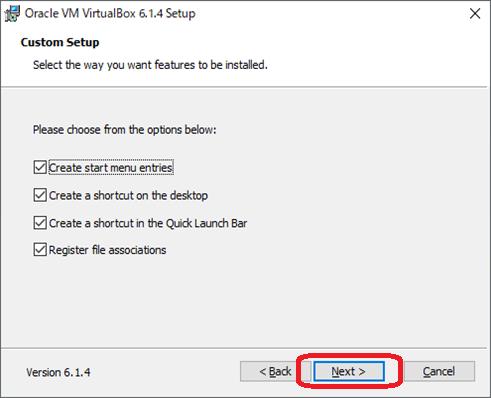 VirtualBox(インストール画面3)