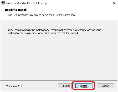 VirtualBox(インストール画面5)