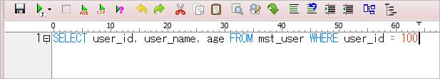 A5:SQL(1行に整形後)