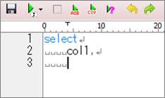 A5:SQL(自動インデントオン)
