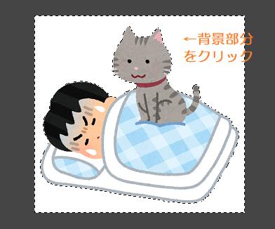 GIMP(ファジー選択状態)