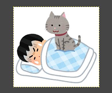 GIMP(選択解除状態)